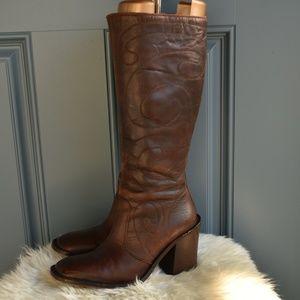 * Cognac Brown Frye Conrad 77275 Boots Sz 7